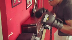 MMA/Boxing - Heavy Bag Drills with Strobe Training Glasses