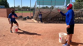 Baseball - Glove Hand Reaction Toss and Catch with Strobe Training Glasses