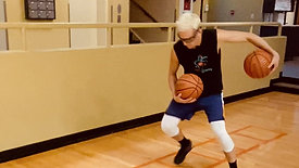 Basketball - Behind Back Dribble Ladder Drill with Strobe Training Glasses