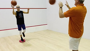 Basketball - Single Leg Balance Catch & Throw Drill with Strobe Training Glasses