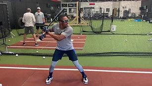 Baseball - RH One Hand Swing Drill with Strobe Training Glasses