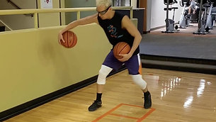 Basketball - Two Feet/Single Foot Ladder Dribble Drill with Strobe Training Glasses