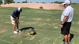 Golf - Wedge Shots After Training with Strobe Training Glasses