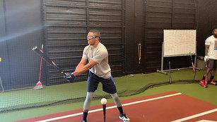 Baseball - Tee Drill - Left Eye Only with Strobe Training Glasses
