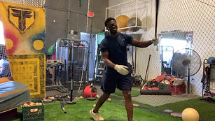 Baseball - Front Toss - Right Eye Only with Strobe Training Glasses