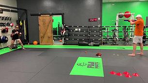 MMA/Boxing - Nerf Gun Dart Dodging and Slipping with Strobe Training Glasses