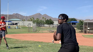 Football - Quarterback Focus and Throw with Strobe Training Glasses