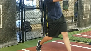 Front Toss Hitting Drill with Strobe Glasses