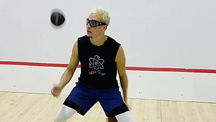 Basketball - Dribble &  Heavy Ball Toss Catch Drill with Strobe Training Glasses