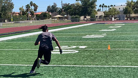Football - Receiver Route Running with Strobe Training Glasses