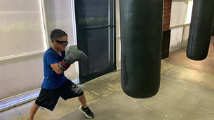 MMA/Boxing - Heavy Bag with Strobe Training Glasses