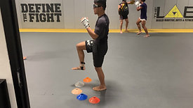 MMA/Boxing - Single Leg Balance Drill with Strobe Training Glasses