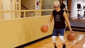 Basketball - Two Feet Single Box Dribble Drill with Strobe Training Glasses