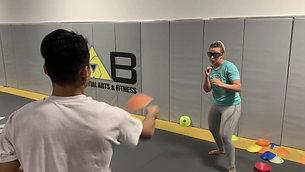 MMA/Boxing - Cone Dodge Drill with Strobe Training Glasses