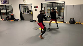 MMA/Boxing - Sparring with Pads with Strobe Training Glasses