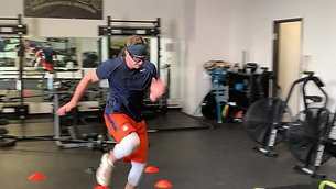 Lateral Hurdle Shuffle With Sprint Drill with Strobe Training Glasses