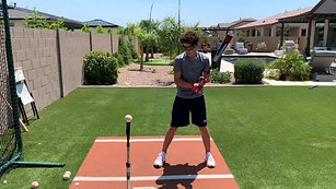 Baseball - Tee Work on High Occlusion Level with Strobe Training Glasses