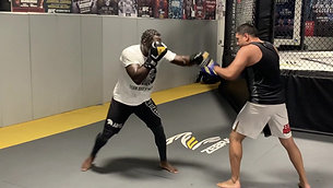 MMA/Boxing - Hitting Pads After Training with Strobe Glasses