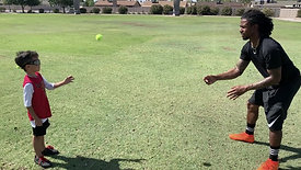 Football - Reaction Time Drill - Tennis Ball Toss with Strobe Training Glasses