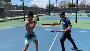 MMA/Boxing - Striking Stick Training with Strobe Training Glasses