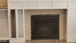 Fireplace Surround/Bookshelves/Live Edge Mantle and Tops