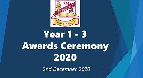 Year 1-3 Awards Ceremony