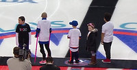 Young cancer fighters drop puck NHL.com