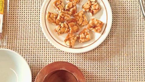 Honey Cashew with Ice Cream