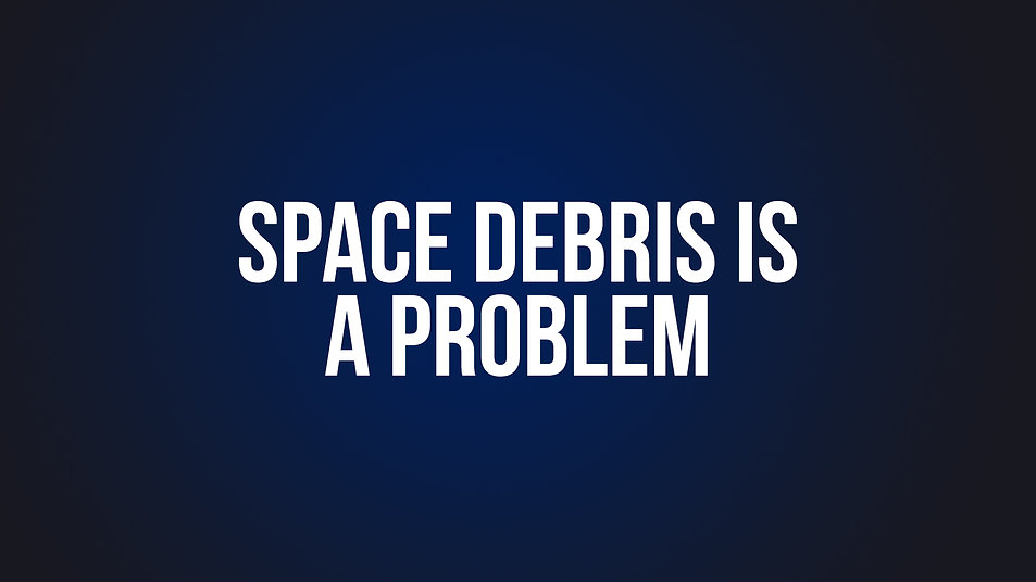 8. Space Debris is a Problem
