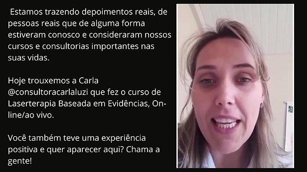 Depoimento Enfª Carla Luzi