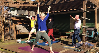 Just for FUN! Outside Schroasis Flow Yoga