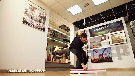 Инструкция за монтаж на Roll банер