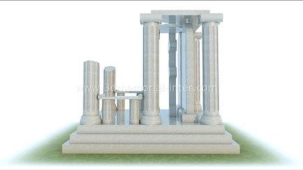 Дизайн памятника в античном стиле