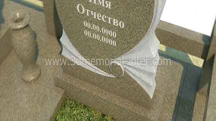 3d эскиз памятника на могилу
