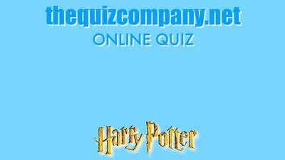 The Harry Potter Quiz