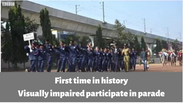 Blind participate in Parade - first time in History