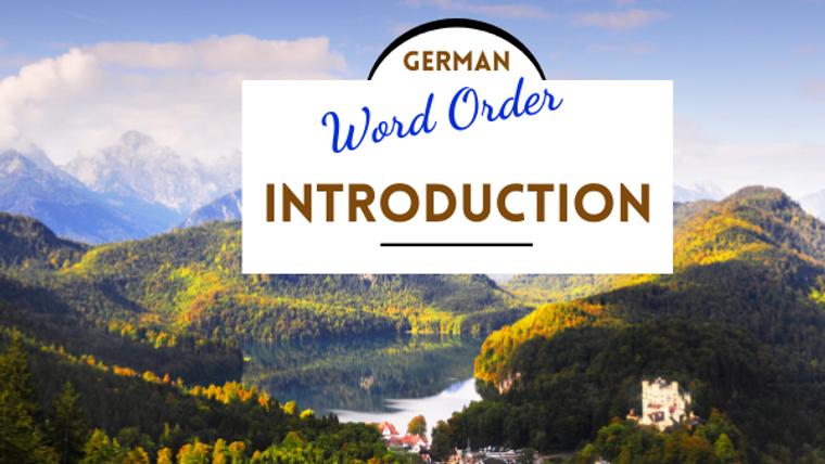 German grammar | Word Order