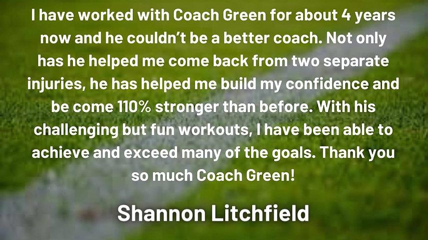 Client reviews - Shannon Litchfield