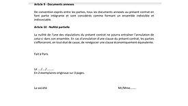 Contrat VDI et annexe