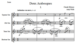 "Arabesque No. 1 from ""Deux Arabesques"" by Claude Debussy (arranged by Andy Wilds)"