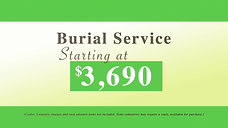Lindsey Funeral Home - Burial Service $3690 LR2