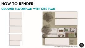 DAY 06 - Ground floorplan with Site Plan rendering