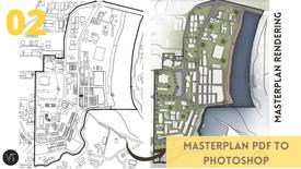 DAY 02 PART 02 - Mengimpor dan mengpersiapkan Masterplan PDF ke Photoshop
