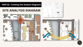 DAY 03  PART 02 - Creating Site Analysis diagrams on Site Plan