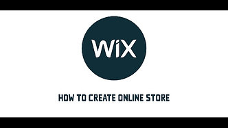 How to create online store on WIX