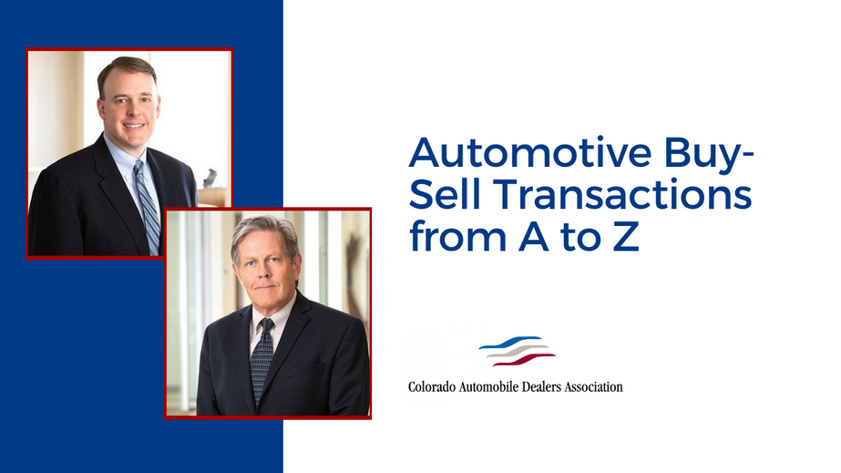 Automotive Buy-Sell Transactions from A to Z