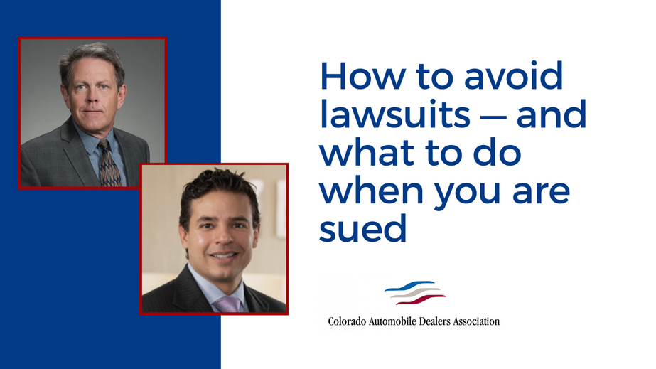 How to avoid lawsuits — and what to do when you are sued