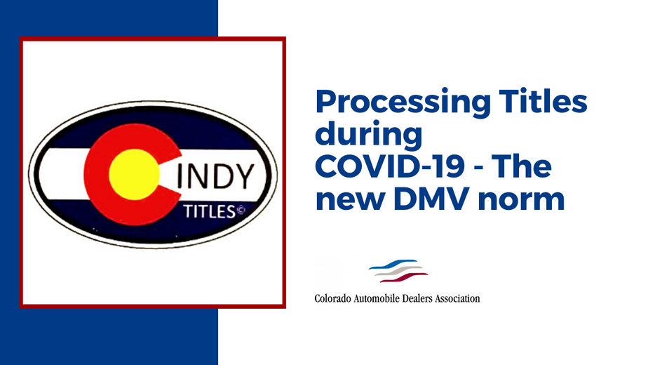 Processing Titles during COVID-19: The new DMV norm