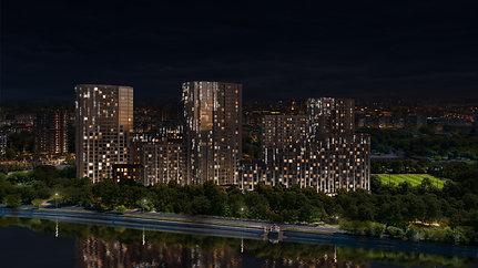 Освещение прямого наблюдения на примере фасадного освещения ЖК River Sky/ Екатерина Космынина