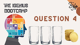 Q4. 10 Coins and three Glass and How companies used this query to select simple yet creative out of box designers?